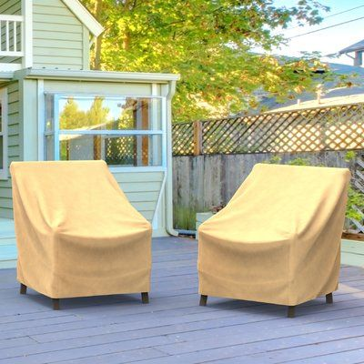 """BudgeIndustries All-Seasons Outdoor Chair Cover Size: 36"""" H x 36"""" W x 36"""" D, Color: Blue"""