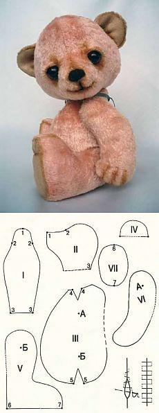 Oso de peluche con las manos. Cómo coser Teddy - una clase magistral.