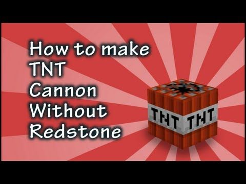Minecraft Tutorial: How to Make a TNT Cannon Without Redstone - YouTube