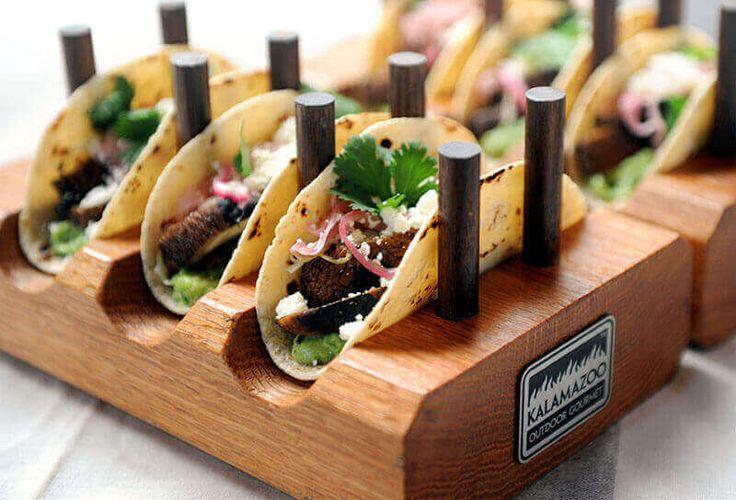 Grilled Portobello Tacos with Tomatillo and Avocado Salsa