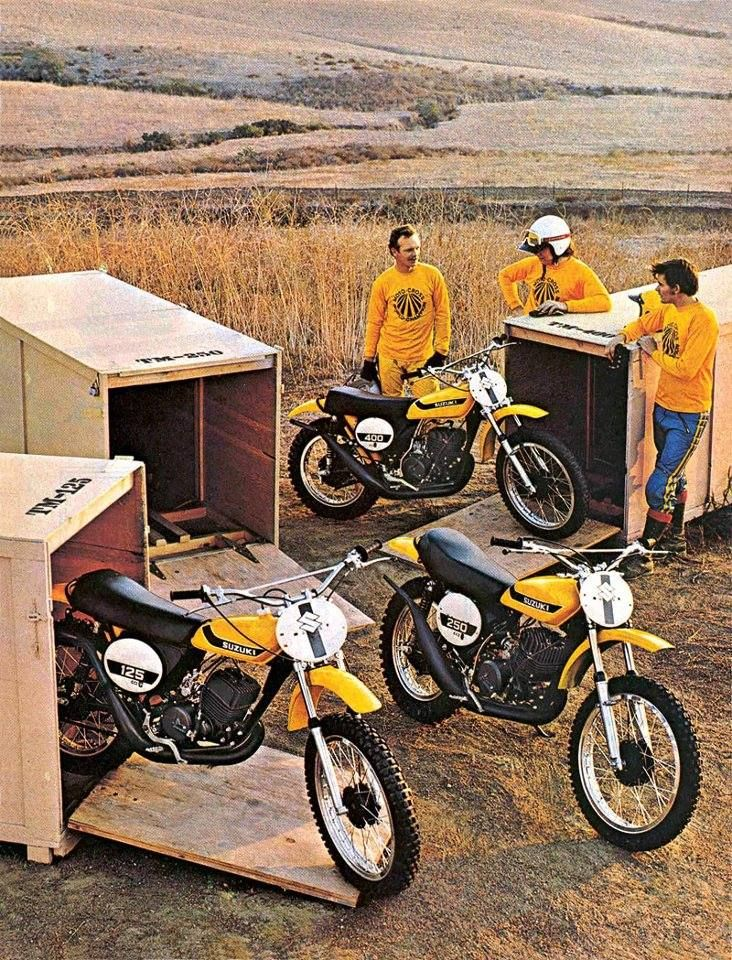 1973 - Suzuki TM Dirt Bike Series Magazine Ad - Vintage Motocross - Oh.. I remember this ad. I think I had it on my bedroom wall. I bought one the following year.