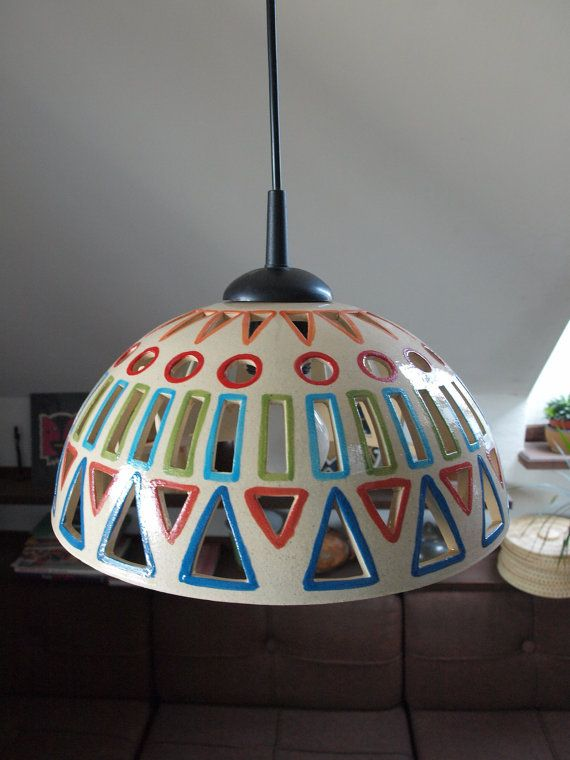 Ceramic Light Chandelier INDIAN COLOURS Pendant by BohemiaMade