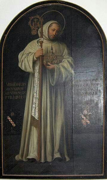 St Bernard of Clairvaux, the patron saint of bee keepers.