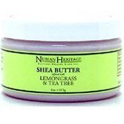 Nubian Heritage Shea Butter Lemongrass and Tea Tree - 4 Ounces by Nubian Heritage. $8.99. 4 Ounces Liquid. Serving Size:. Nubian Heritage Shea Butter Infused With Lemongrass And Tea Tree DescriptionCultural Healing Since 1991Healing. Hydrating and ConditioningNubian Heritage Shea Butter Infused With Lemongrass & Tea Tree contains healing, hydrating, and conditioning properties. Pure Shea Butter is infused with spicy Lemongrass Oil, minty Aboriginal Tea Tree Oil an...