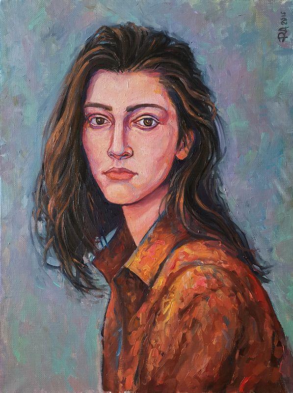 Живопись маслом портрет люди. Научиться рисовать людей. Рисование лицо. Анна Фоменко 40х60 холст масло #newartintention