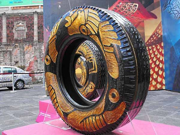221 best tire recycling images on pinterest recycle for Old tire art
