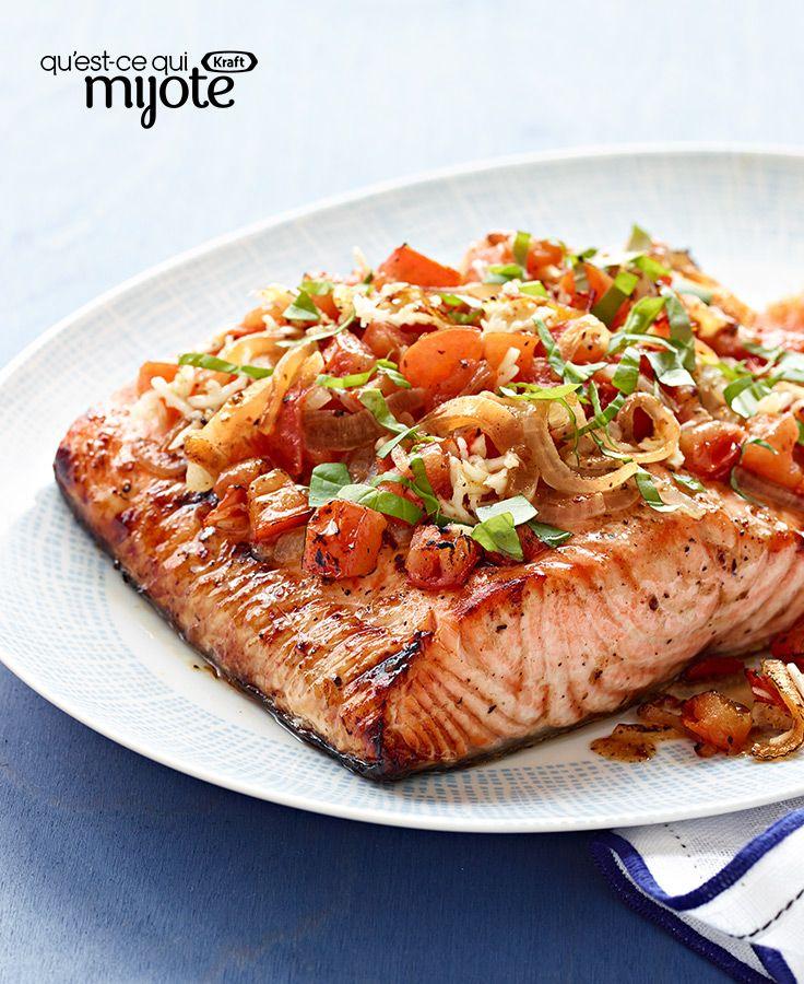 Saumon à la bruschetta grillé à la perfection #recette