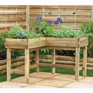 This is a simple and effective way to grow vegetables whilst not having to bend down.
