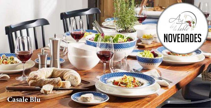 La nueva decoración Casale Blu de Villeroy & Boch recuerda a los diseños del corazón de Italia. Ven y descubrela en nuestras tiendas Art de la Table de Vitacura.  #VilleroyBoch #ArtdelaTable #vajilla #luispasteur #vitacura#alonsodecordova #lobarnechea #mantelesfinos #mantelesantimanchas#vajillaeuropea