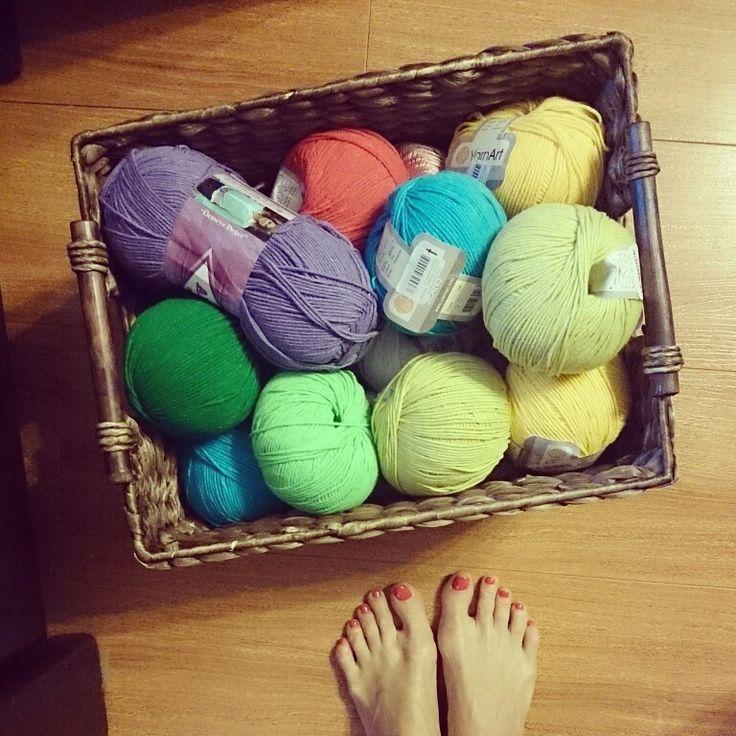 Crochet. Knitting.