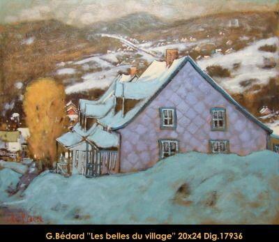 Original mixed media painting on canevas by Gilles Bedard #GillesBedard #artist #art #mixmediapainting #artist #originalpainting #fineart #canadianartist #quebecartist #winter #farm #house #shadows #light #multiart #balcondart