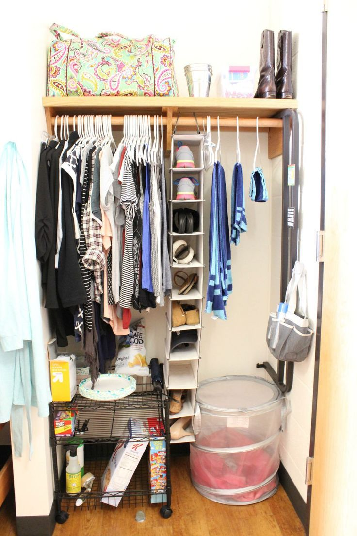 This is a great way to organize your dorm closet.