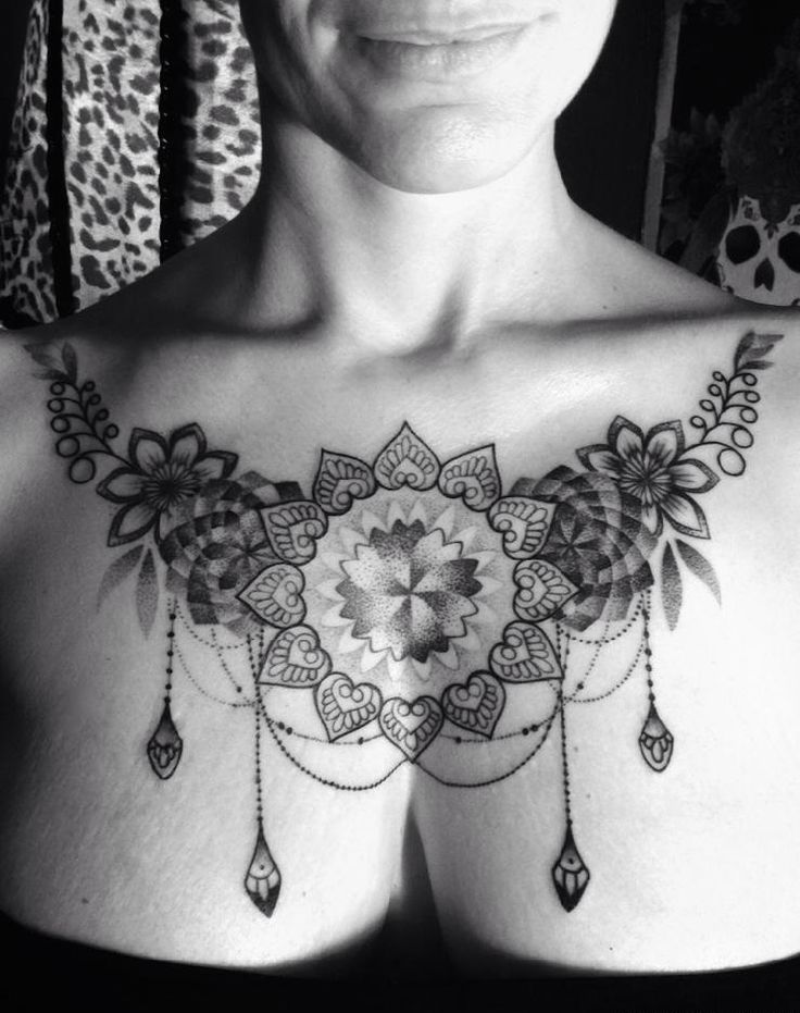 Baroque Chestpiece For Women - Design Of Tattoos