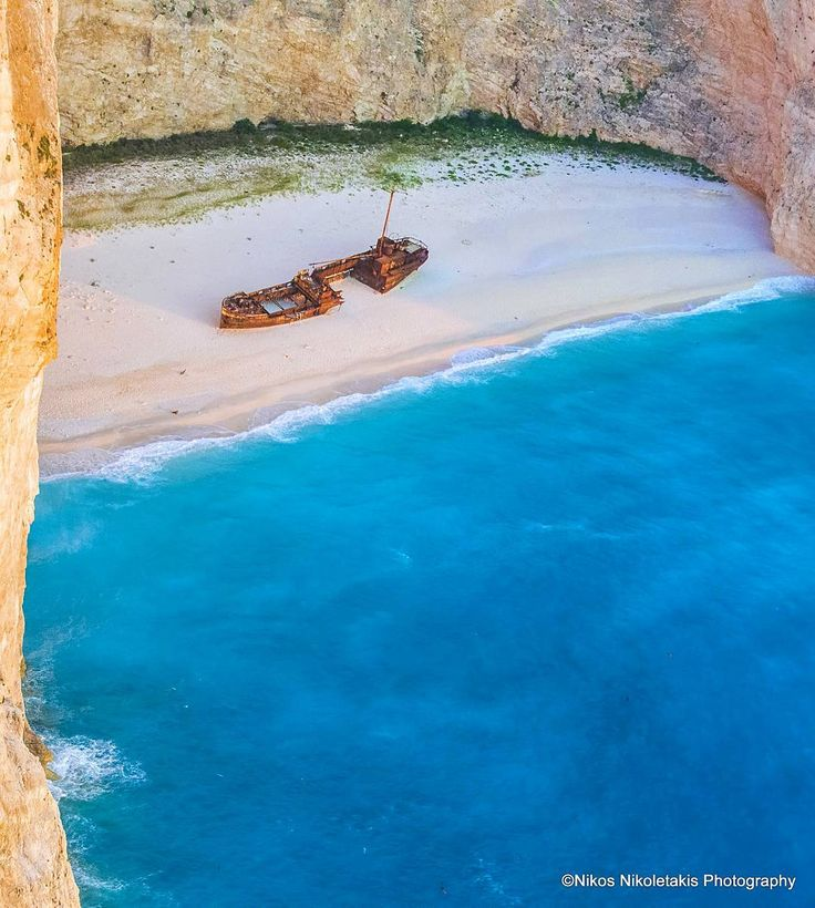 Navagio beach in Zakynthos island. Voted recently as one of the best beaches in the world(Harper's Bazaar magazine July 2017). Happy Sunday