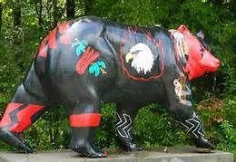 Cherokee NC Painted Bears