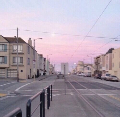 #sunset #pastel #pale #aesthetic #bambi #soft #sky #grunge  https://weheartit.com/entry/299537914