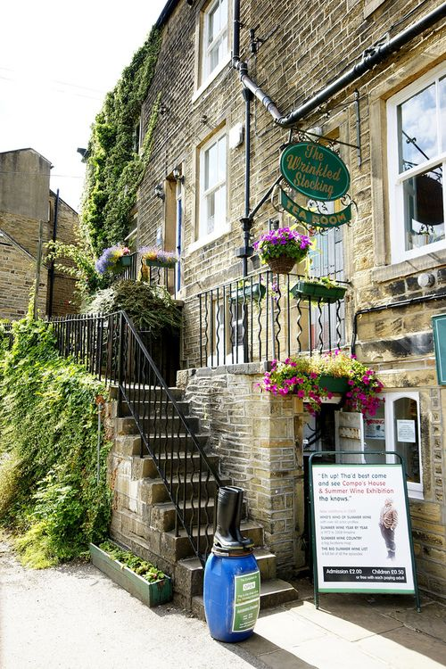 'The Wrinkled Stocking Tea Room' in Holmfirth, West Yorkshire. Nora Batty's house in the 'Last of the Summer Wine' television series now turned into a museum and tea room. By Andy Coe on Flickr.