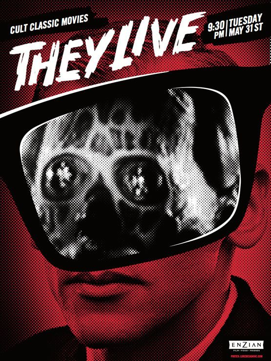 Cult Classic Movies / They Live / Lure Design Poster Store