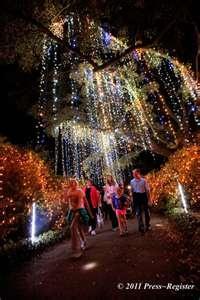 Christmas at Bellingrath Gardens in Mobile, Alabama
