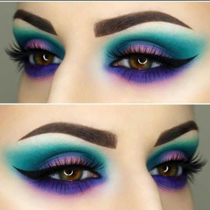 I don't ever wear bright colors on my eyes anymore, but I love this look.