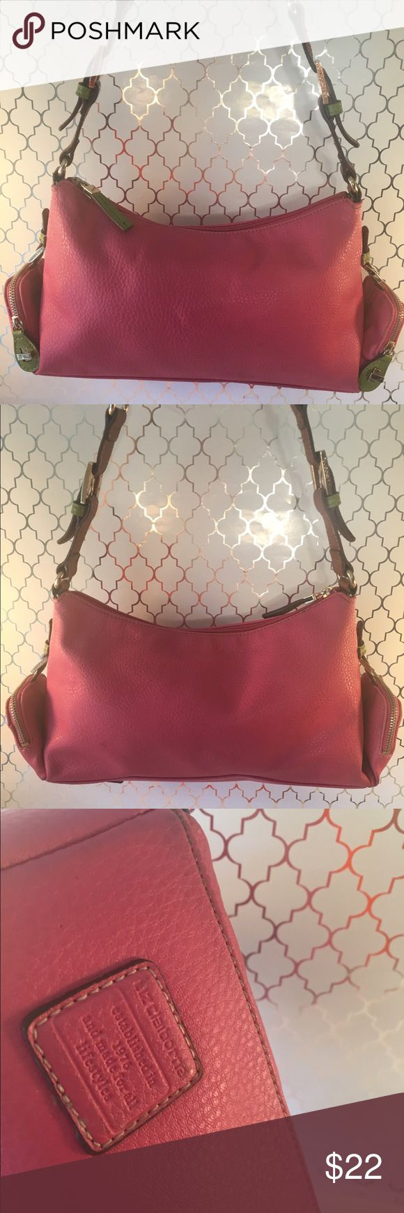 ⭐️LIZ CLAIBORNE PINK SHOULDER BAG 💯AUTHENTIC LIZ CLAIBORNE PRETTY PINK SHOULDER BAG 100% AUTHENTIC. PERFECT FOR ANY OCCASION! THIS GREAT BAG HAS THREE LOVELY INTERIOR WALL POCKETS. THE BAG MEASURES 14 INCHES WIDE BY NEARLY 8 INCHES TALL. THE ADJUSTABLE SHOULDER STRAP HAS A 11 INCH DROP Liz Claiborne Bags Shoulder Bags