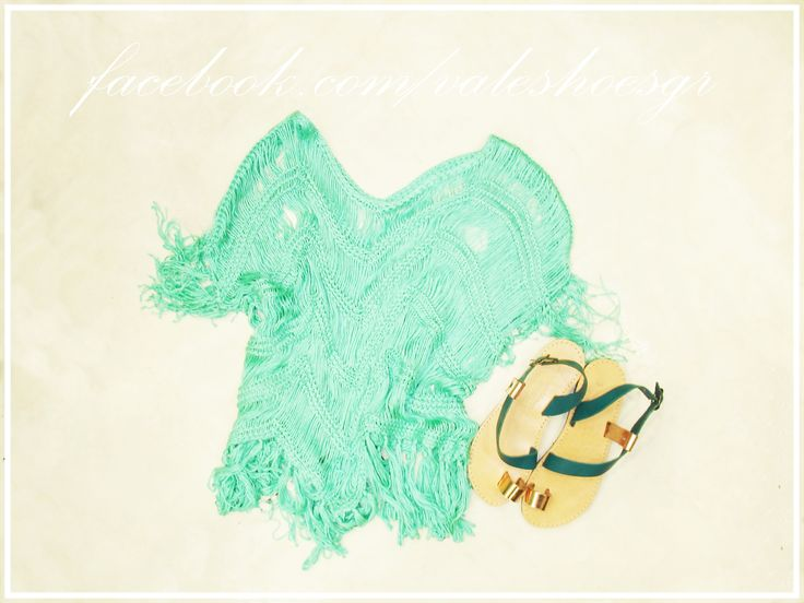 love turquoise... leather sandals :24.90euro knitted shirt :29.90euro