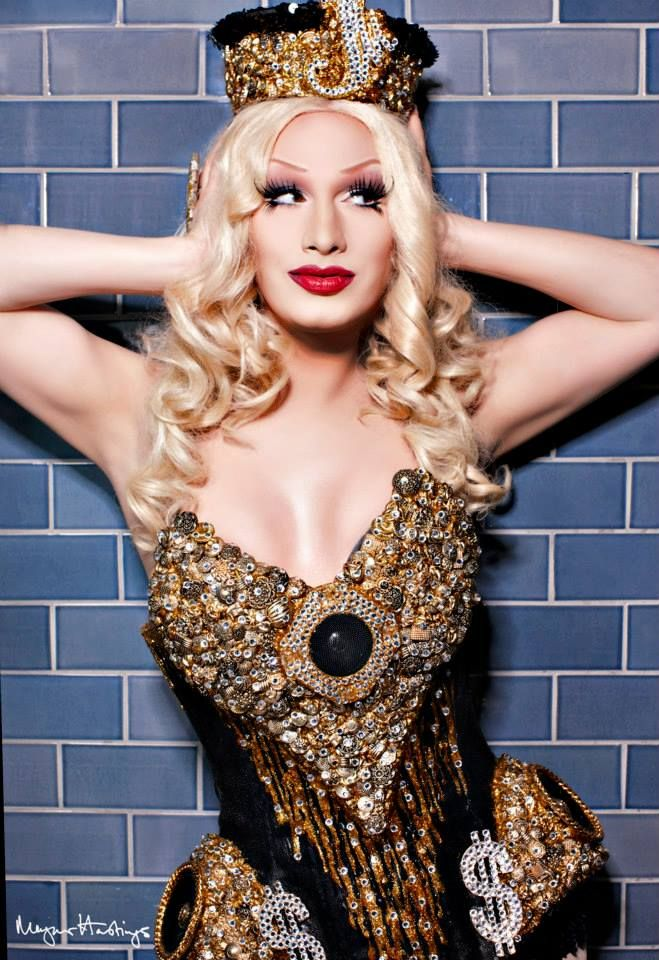 Jinkx Monsoon in a Tom Tom Fashions ensemble. Photographed by Dragged Around the World.