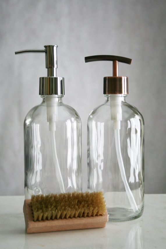 Our Market Glass Soap Dispensers Are The Perfect Refillable Glass Dispensers  And Offer A Clean Style To Your Kitchen Or Bath. Featuring A Durable Mu2026