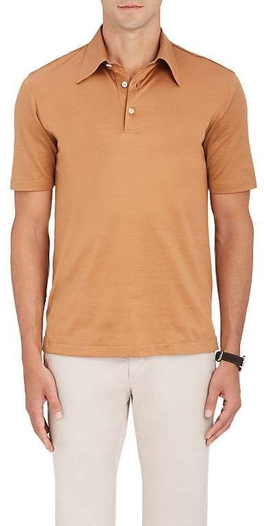 Brioni Men's Cotton Jersey Polo Shirt