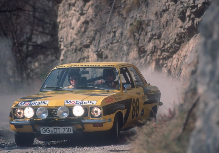 Walter Röhrl and Jochen Berger in the Opel Ascona A at the European Rally Championship