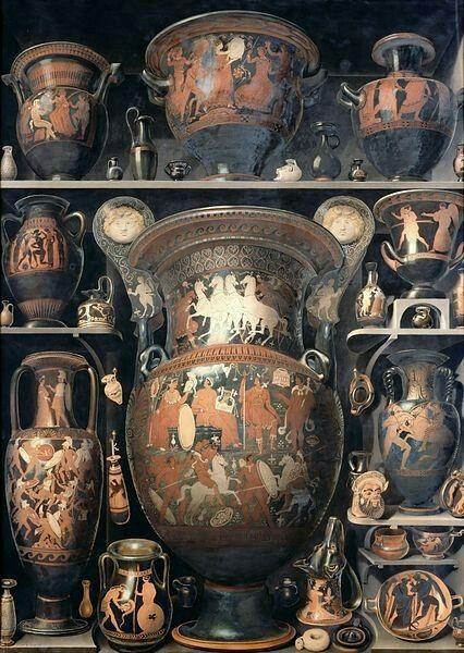 Alexandre-Isidore Leroy De Barde(1777–1828) Vases grecs et étrusques  Date18e siècle, période moderne (Europe occidentale)MediumwatercolorDimensionsHauteur: 1.5m Longueur: 1.1mCurrent locationLouvre Museum