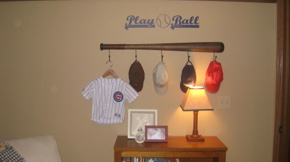 Cades Baseball Room, We created this room for our first child our son Cade. The colors are chocolate brown navy and khaki and we have a subtle baseball/sports theme. Many handcrafted elements went into the room and we are excited for our son to arrive!, Nurseries Design