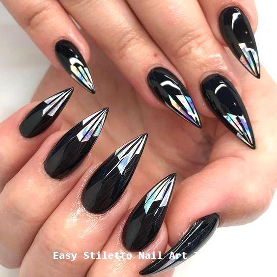 30 große Stiletto Nail Art Design-Ideen #naildesigns – Creative Stiletto Nails Designs