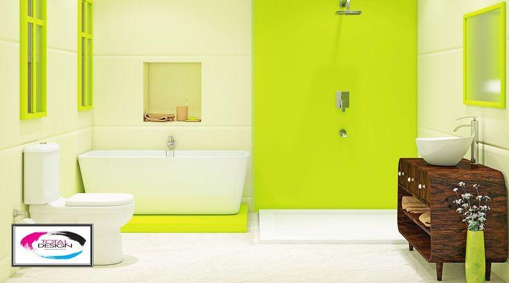 Solutii si Servicii pentru amenajare baie in nuante de verde si alb