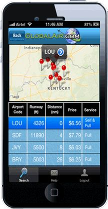 You want to grab some air now! Make sure you take along your iPhone or iPad, equipped with the FBO Fuel Prices app!  Turn on the FBO Fuel Prices app on the ground, let it update, and have immediate access to the most up-to-date rates on the net any time, any place, any altitude! Sort by the cheapest price in the area, even length of runaway.  #knowGlobal Valuable app for your phone available for those that like to fly. http://www.fbofuelprices.com/