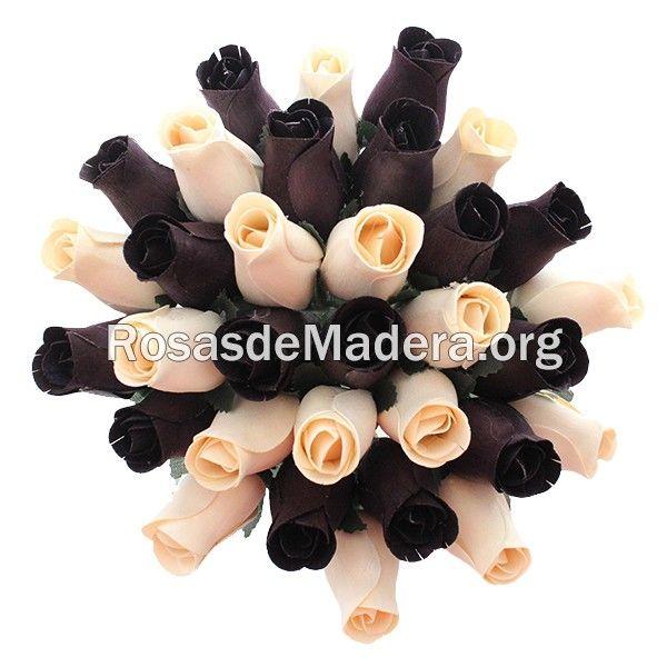 Ramo de rosas moderno: Elegante ramo de rosas de estilo moderno, con los colores que mejor combinan en tu hogar, da un toque de distinción a tus estancias con este complemento para toda la vida.  Ideal para la decoración de interiores del hogar.