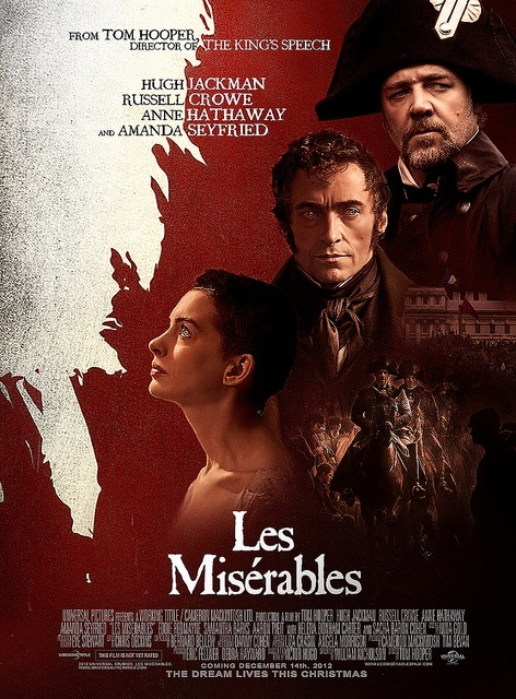 Les Mis (2012) | Early Movie Poster. Note the Dec 14, 2012 release date. The film was pushed back to a Christmas Day release.