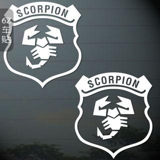 Скорпион наклейки скорпион щит знак автомобиля наклейки украшения автомобиля refires назад подняться стекло наклейки на дверях наклейки