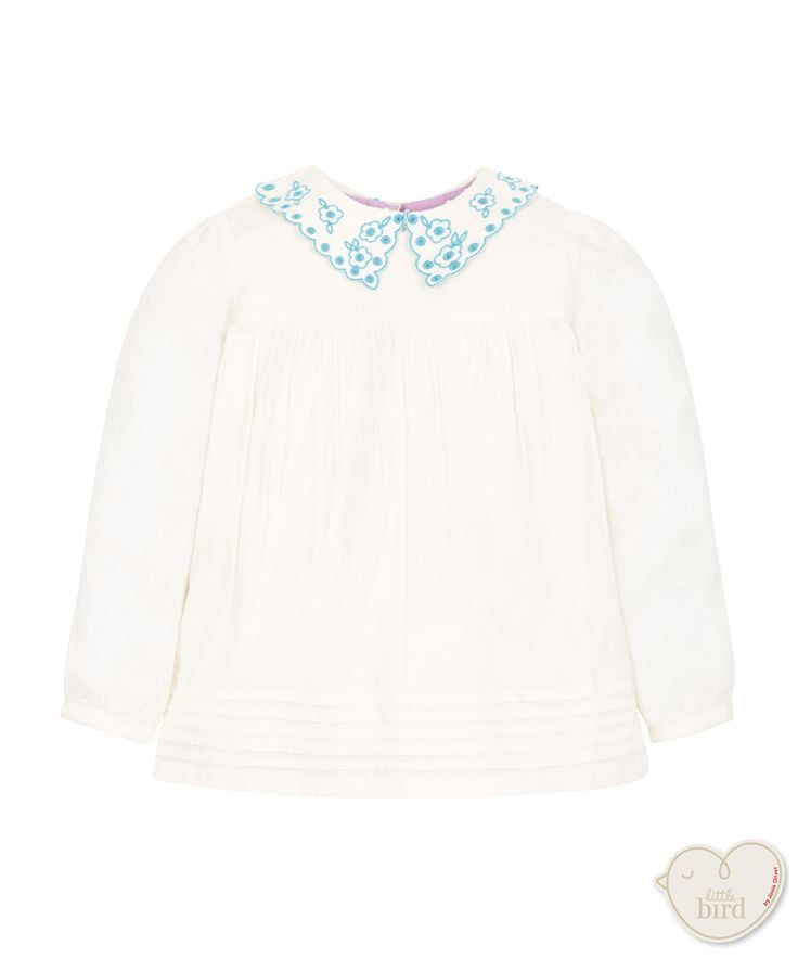 Little Bird by Jools Embroidered Collar Blouse