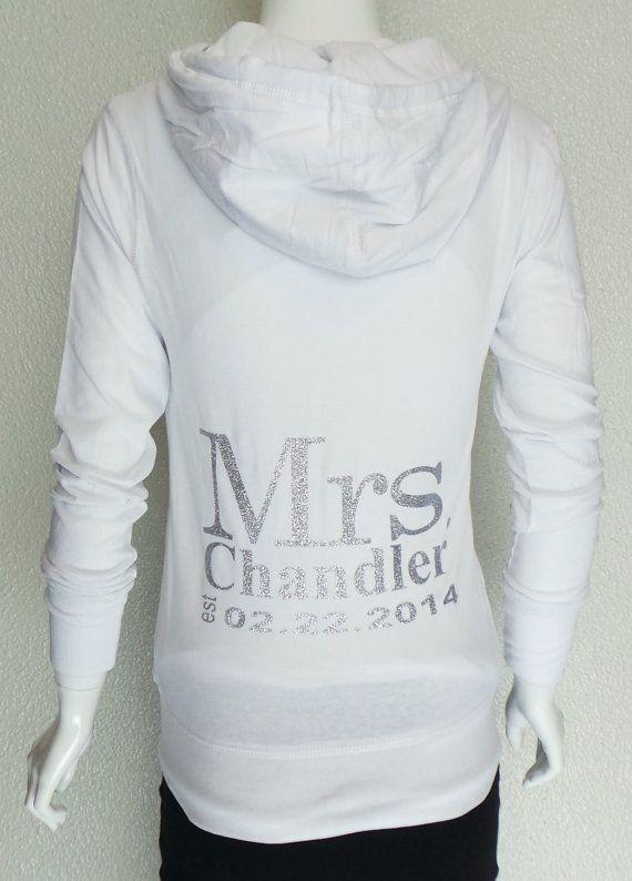 Personalized bridal hoodie