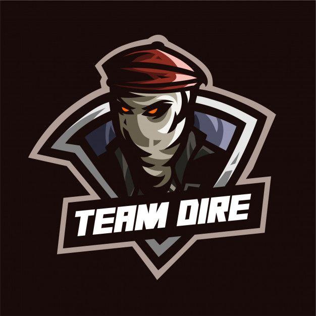 Csgo Team Dire Mascot Logo Template Logotip Shablony Shapka