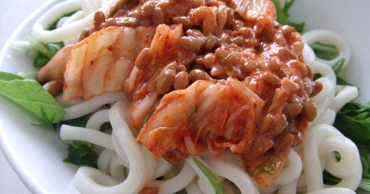 ✿ฺ冷やしうどん♪納豆キムチon京水菜 by きゃおり姫 [クックパッド] 簡単おいしいみんなのレシピが247万品