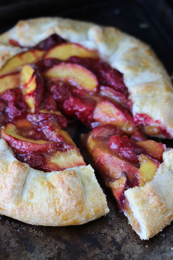 Peach raspberry galette | Blahnik Baker: Desserts Recipe, Raspberries Galette, Peaches Raspberries, Peaches Pies, Juicy Peaches, Peaches Recipe, Amazing Peaches, Sweet Tooth, Blahnik Baker