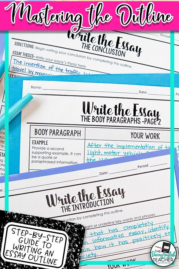 Essay Writing Mastering The Essay Outline With Guided Instructions