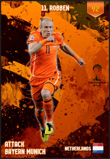 #ArjenRobben Netherlands FIFA World Cup 2014 Lineup