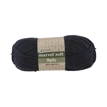 4 Seasons Marvel Soft 8 Ply Yarn Navy 100 g