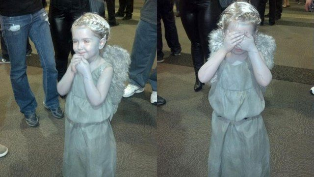 oh my goodness. Little kid Cosplay for Doctor WhoDon'T Blink, Halloween Costumes, Comics Con, Kids Cosplay, Doctors Who, Angels Children, Costumes Ideas, Weeping Angels, Angels Costumes