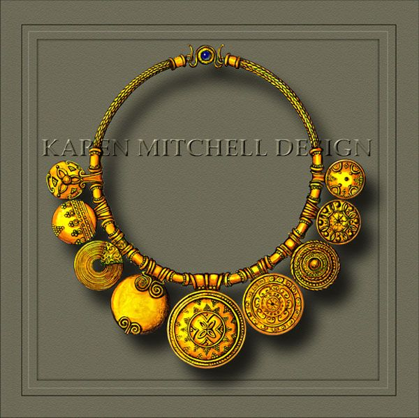 Jewelry Renderings Copyright Karen Mitchell Design by Karen Mitchell at