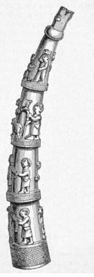image Download: small | large Details of No. 49: No. 49/1 imageNo. 49/2 imageNo. 49/3 image Publication: 1898. Blink, Dr. H. De bewoners der vreemde werelddeelen: Afrika - Azie - Amerika - Australie. In hun leven, zeden en gewoonten, naar hun staatkundige, economische en sociale ontwikkeling, en tevens in hun verhouding tot Europeesche volken beschreven.  Original language: Dutch  Caption translation: Ivory Horns from the Coast of Upper-Guinea  Caption: Ivoren Hoorns van de Kust van…