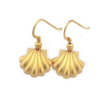 Shell earrings in sterling silver. Handmade in Galicia with traditional methods. Artcraft of The Way of St.James. Tax free $17.90